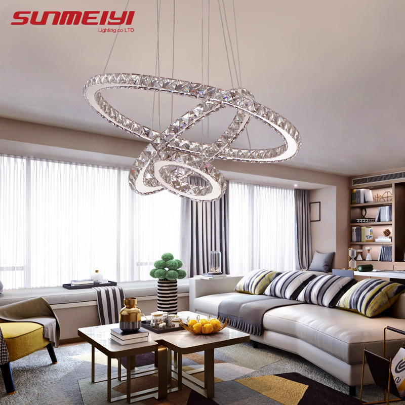 Modern LED Crystal Chandelier Lights Lamp For Living Room Cristal Lustre Chandeliers Lighting Pendant Hanging Ceiling Fixtures modern led crystal pendant lights fixtures magic crystal ball lustre loft stairwell 12 crystal light meteor shower crystal lamp