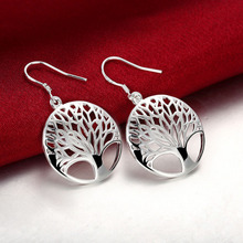 Retro Tree Of Life Silver Plated Earring Fashion Jewelry