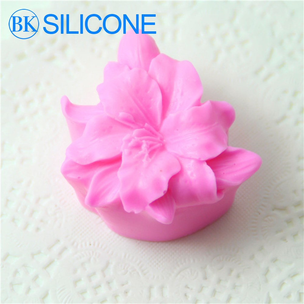 Lily Nail Cake Decorating : Aliexpress.com : Buy 3D Lily Flowers Silicone Soap Molds ...