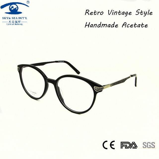 SKY&SEA OPTICAL High Quality Round Eyeglasses Frame Women Glasses Clear Vintage Spectacle Frames Accept Prescription Lens
