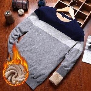 Image 3 - Varsanol איש סוודר כותנה ארוך שרוול סוודרים סרוגים גברים V צוואר סוודר חולצות סריגים פסים Slim Fit סוודרים חמים חדש