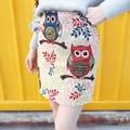 Saias das mulheres 2016 primavera American Apparel Lolita coruja padrão Animal Dobby Mini saia saia de cintura alta saia 3048