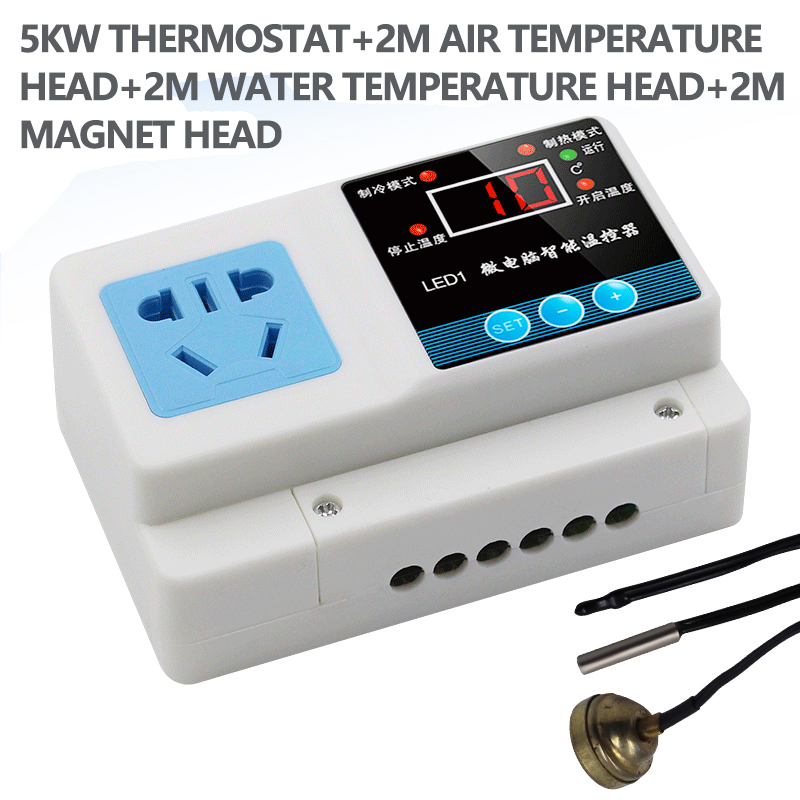 5KW Microcomputer thermostat digital intelligent temperature control switch electronic temperature controller incubator boiler joy toy машина инерционная нива милиция