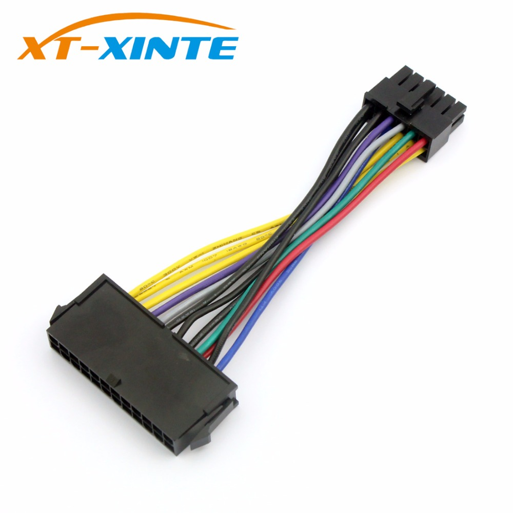 XT-XINTE ATX  24P to 24P 90 Degree Adapter card for Desktop PC Power Supply
