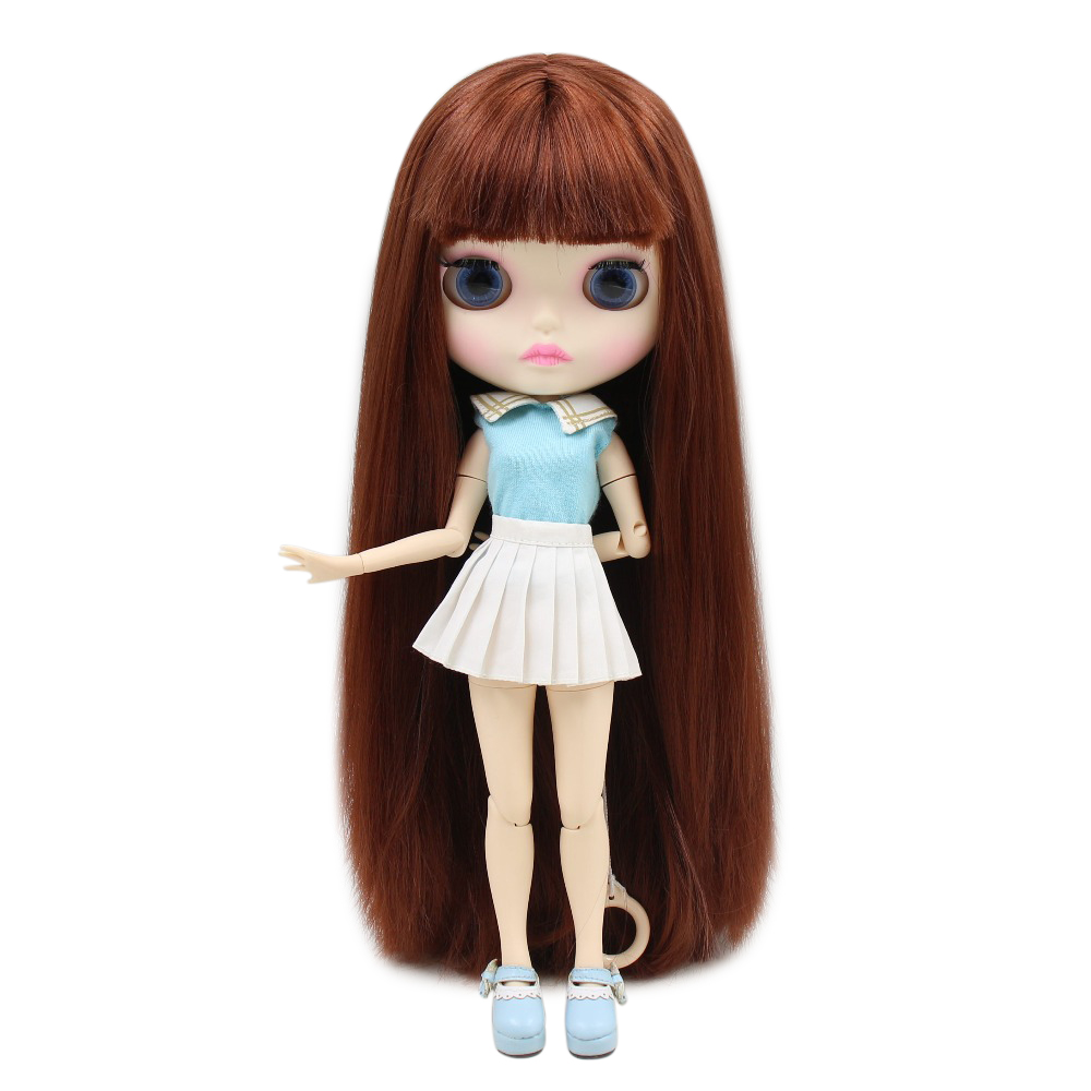 Dolls & Stuffed Toys Brilliant Factory Blyth Doll Bjd Red Brown Hair White Skin Joint Body New Face Bl9388 1/6 30cm