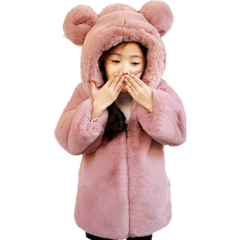 2018 новая детская Куртка для мальчиков в длинный участок для девочек Детская шерстяное пальто ребенка утолщение плюс пальто FPC-155