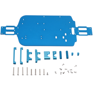 Image 4 - 1 Set High Speed Car Metal Chassis Upgrade Metal Chassis For Wltoys 1/18 A949 A959 B A969 A979 K929 RC Car