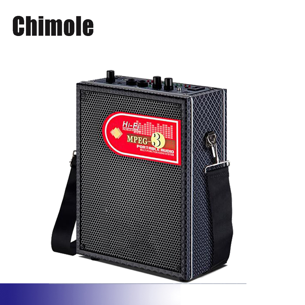Chimole Outdoor Bluetooth Speakers High Quality 100W High Power HiFi Portable Square Dance Speaker with Wireless Microphone chimole a910 high quality high power 300w 9 inch high definition display dvd player portable square speakers