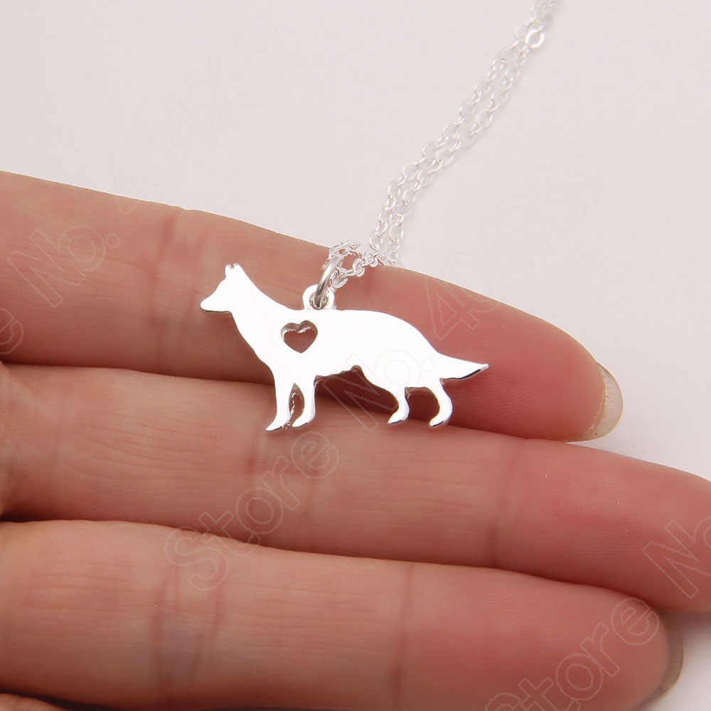 German Shepherd Side Necklace Dog Pet Memorial Gift Dog Christmas Gift Necklaces & Pendants Lead Free Women Animal Pendant