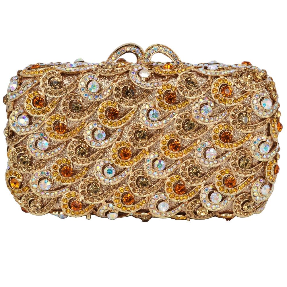Bagaj ve Çantalar'ten Üstten Saplı Çanta'de LaiSC Kırmızı debriyaj akşam çanta lüks kristal Debriyaj bayanlar çanta balo poşet kadınlar akşam çanta bling el çantası zinciri SC100'da  Grup 2