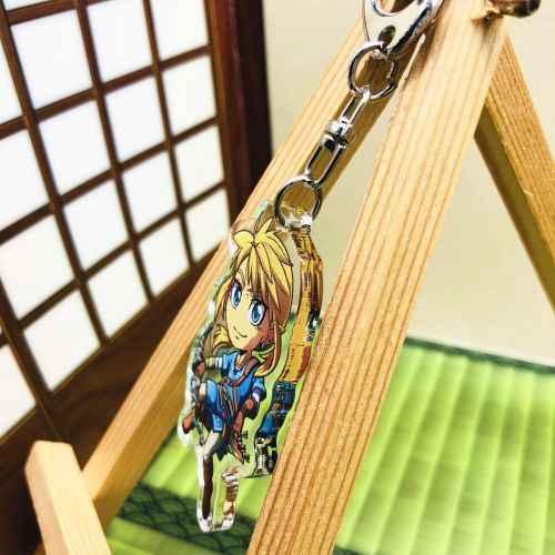 La leyenda de Zelda Anime japonés llavero Correa acrílica/dijes/llavero