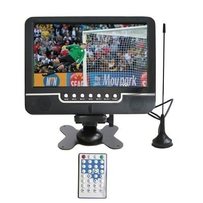 9.5 дюймов TFT LCD цветной Аналогового ТВ с широким углом зрения Поддержки SD MMC Card USB Flash disk AV In/AV Out функции Fm-радио открытый