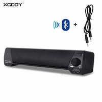 In Stock XGODY Bluetooth Speaker with Mic Handfree FM Radio USB TF Card Player Wireless Soundbar for Computer for iPhone for TV