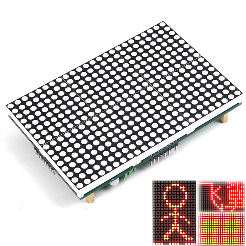 LED Display 16x24 Lattice Module 16x24 Dot Led Matrix LED Matrix Module SubtitleText Display Driving Program Testo Pantalla LED