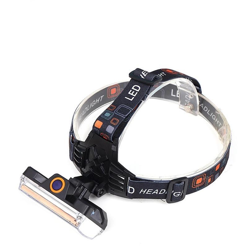 AKDSteel 10000 Lumens COB LED Headlamp USB Charging Headlight Tactical 4-Mode Bicycle Flashlight Hunting Head Light ultrafire u 100 4 led 4 mode 2400lm white bike light headlamp black deep pink