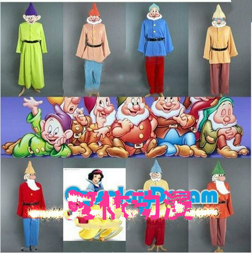 Anime Snow White and seven Dwarfs cosplay Costume Dwarf Stage Performance Halloween Gifts Fairy tale world Adults