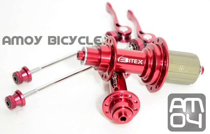Цена за Бесплатная доставка только красный r13 краска супер свет дорожный мотоцикл подшипников ступиц bitex с quick release