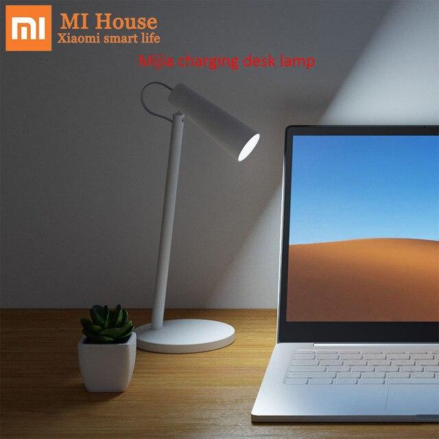 Xiaomi Mijia ładowania lampy biurko 5 W wielokrotnego ładowania baterii 2000 mAh 3 klasy tryby ściemniania 2600 K 3200 K 4500 K jasność lampa światła