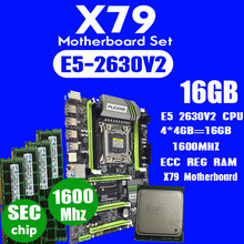 Plexhd X79 Turbo Papan Utama LGA2011 ATX Combo E5 2630 V2 CPU 4 Pcs X 4 GB = 16 GB DDR3 ram 1600 MHz PC3 12800R Pci-e NVME M.2 SSD(China)