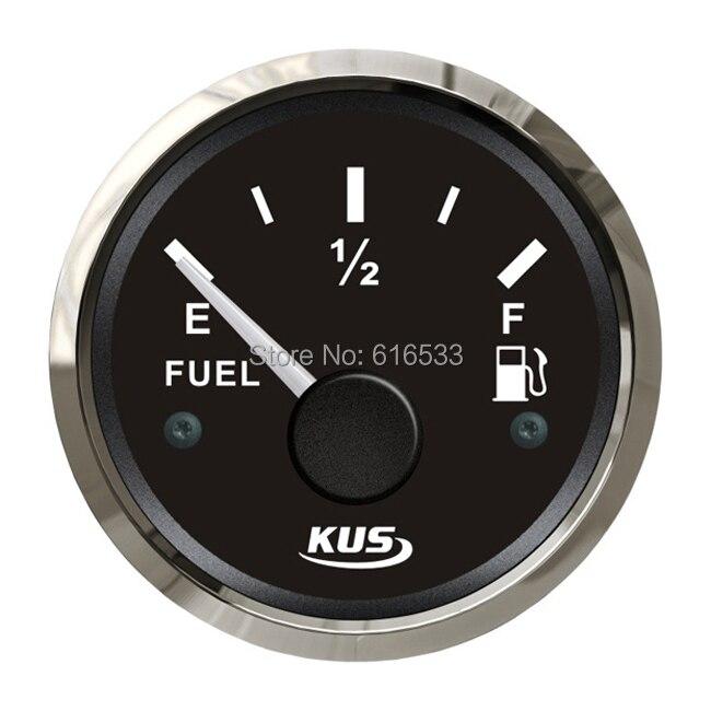 52mm oil fuel liquid tank level gauge for generator yacth marine boat motorcycle car instrument aparts(0-190ohm)