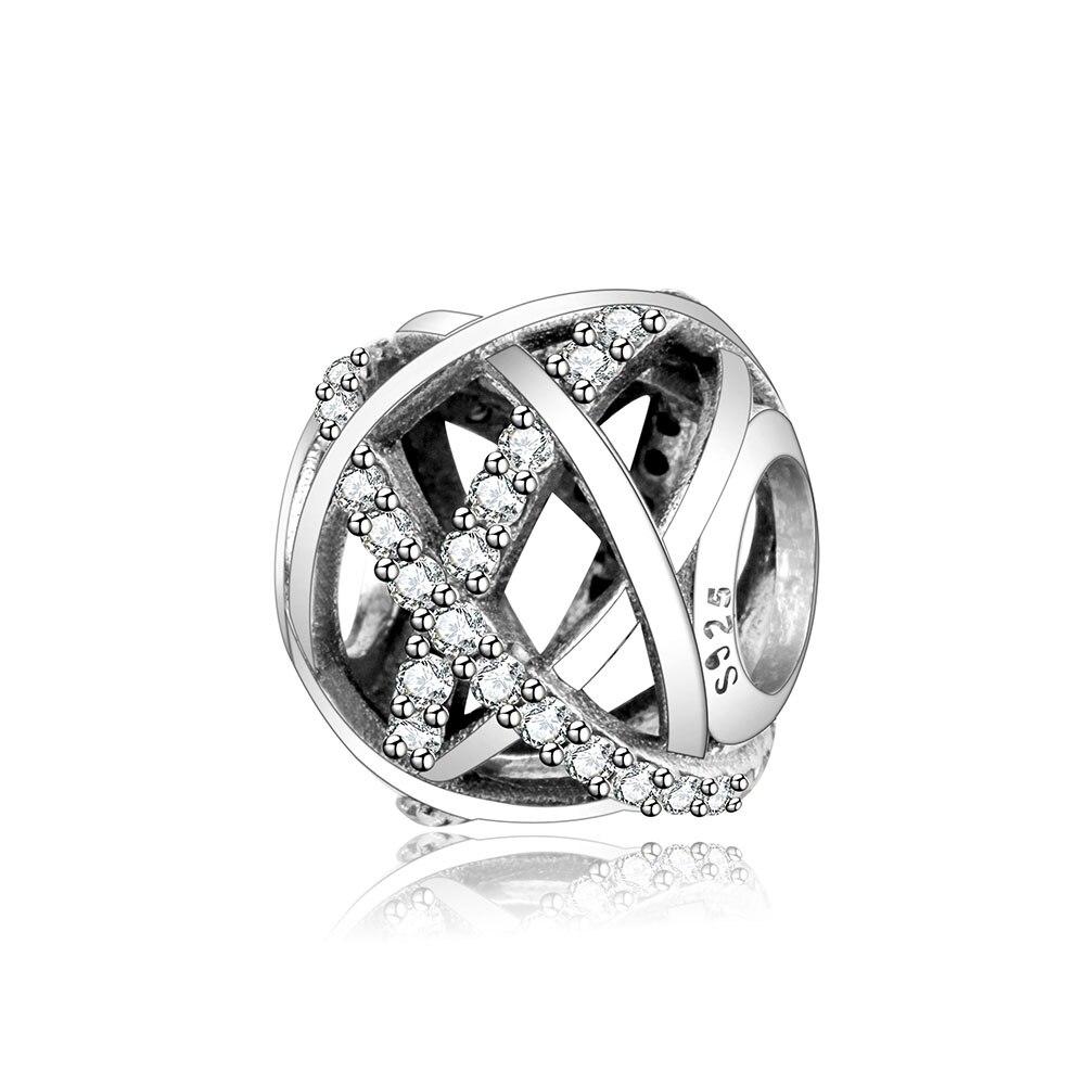 Galaxy Openwork Swirls Charms With CZ Fits Original Pandora Charms Bracelet DIY Jewelry 925 Sterling Silver Beads berloques 2018