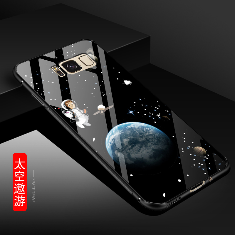 For Samsung Galaxy S8 Tempered Glass Case Ultra Slim 2018 New Anti-scratch Phone Skin Cover Cases for Samsung S8 Plus Coque Capa