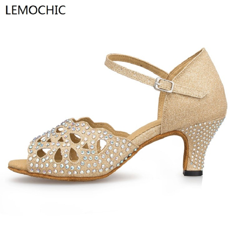 LEMOCHIC newest latin sumba cha-cha rumba salsa shoe elegance comfortable arena classical ladies girls dance dancing shoes lemochic hot sale women salsa cha cha double steps latin tango pole dancing performance arena classical professional dance shoes