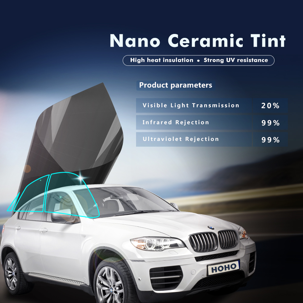 0.5x5m Motoshield Pro Nano Ceramic Tint Film 20%VLT 62%TSER 99% IR 99% UV Rejection Professional Film 20X16ft