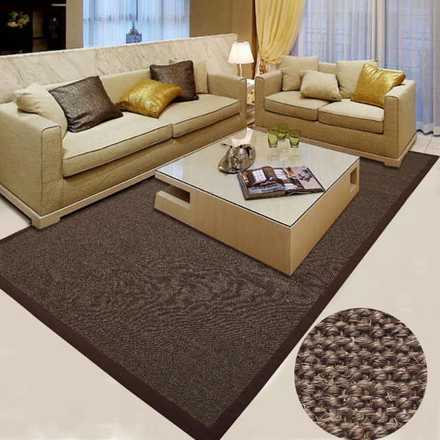 115x190cm Big Carpet Rugs Latex Backing Sisal Carpet Living Room Japanese  Style Modern Luxury Large Rugs