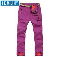 IEMUH Brand Size M 3XL Women Winter Ski Pants Fleece Softshell Hiking Pants Outdoor Trousers Trekking