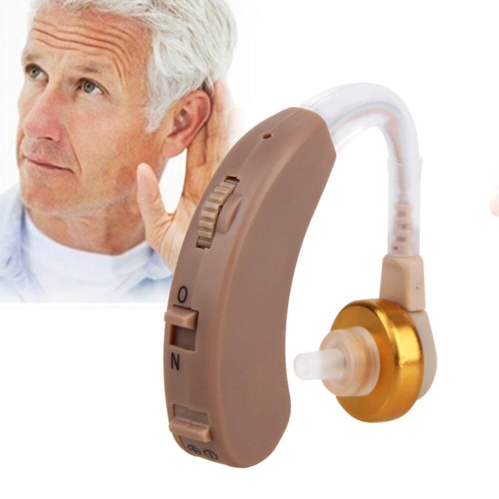 Auditivo ajustable audífonos invisible Sound voz Amplificadores volumen tono escucha asistencia con la batería