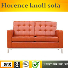 FGHGF U BEST Florence Knoll Replica Two Seat Leather Sofa