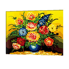 WONZOM Colorful Peony Oil Painting By Numbers DIY Abstract Digital Picture Coloring On Canvas Unique Gift For Home