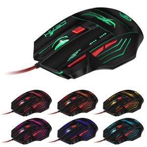 Image 2 - HXSJ H100 Professional Gaming Devices Adjustable 5500DPI Wired Gaming Mouse 7 Buttons Luminescence Computer Mouse