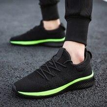 Мужская Летняя легкая беговая Обувь сетчатая воздухопроницаемая удобная спортивная обувь для прогулок на открытом воздухе спортивные кроссовки