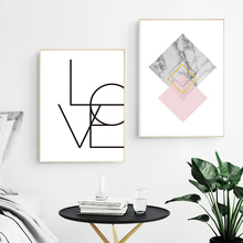 Abstract Painting Canvas Art Print Wall Geometric Poster Nordic Pink Picture Marble Quote Prints Decor Unframed