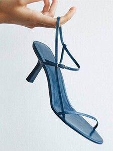 Image 2 - Доставка в доставку в течение 3 дней, Новинка Лето 2019, женские пикантные сандалии на высоком каблуке