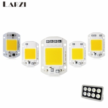 цена LARZI COB LED Chip 50W 220V 40W 30W 20W 10W 3W Smart IC No Need Driver LED Bulb Lamp For DIY Floodlight Spotlight