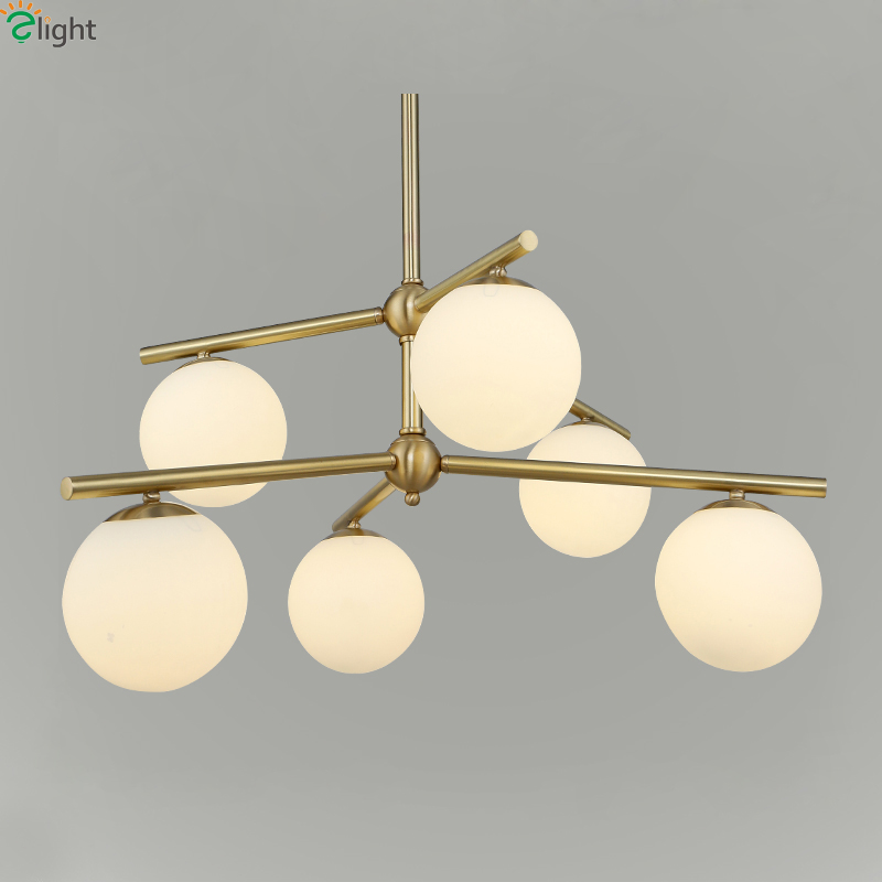 Modern Simple Glass Led Pendant Chandelier Lighting Luminaria Lustre Copper Dining Room Led Chandeliers Hanging Lights Fixtures modern lustre blue glass led chandeliers lighting copper living room led pendant chandelier lights dining room led hanging light