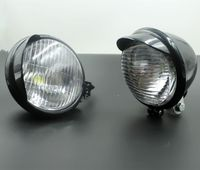 Pair White LED ANGEL EYE Spot Fog Lamp Head Light For Honda Rebel 250 Yamaha V