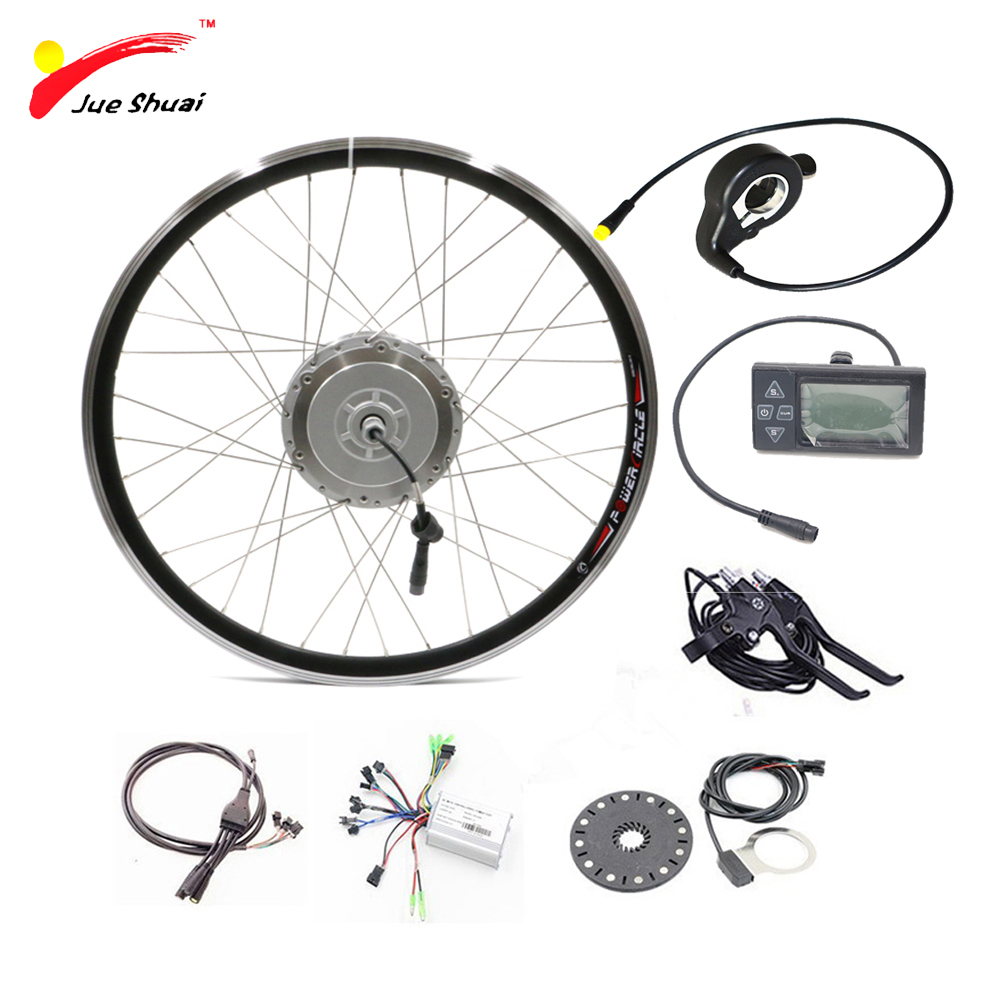 48v 250w 350w 500w bicycle electric motor kit ebike components sets with lcd display controller
