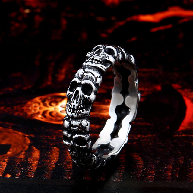 UNIQUE STAINLESS STEEL SKULL RINGS