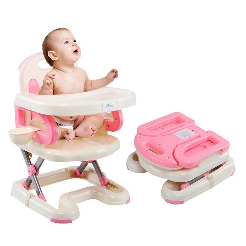 Multifonctionnel bébé à manger chaise haute Portable infantile bébé alimentation chaise pliante enfants Table et chaise enfant restaurant à manger chaise