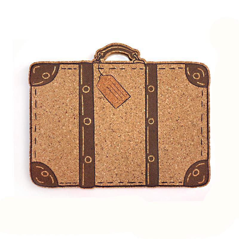 Luggage Bag DIY Cork Board Bulletin Board Message Board Soft Wood Wall Board Printed Cork Wood With Sticker