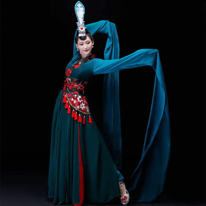 ancient dance costumes for women chinese national dance costumes folk dance costumes classic han fu festival performance