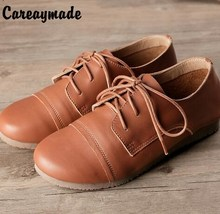Careaymade-2017 new spring white shoes Top layer genuine leather pure handmade comfortable soft bottom leisure