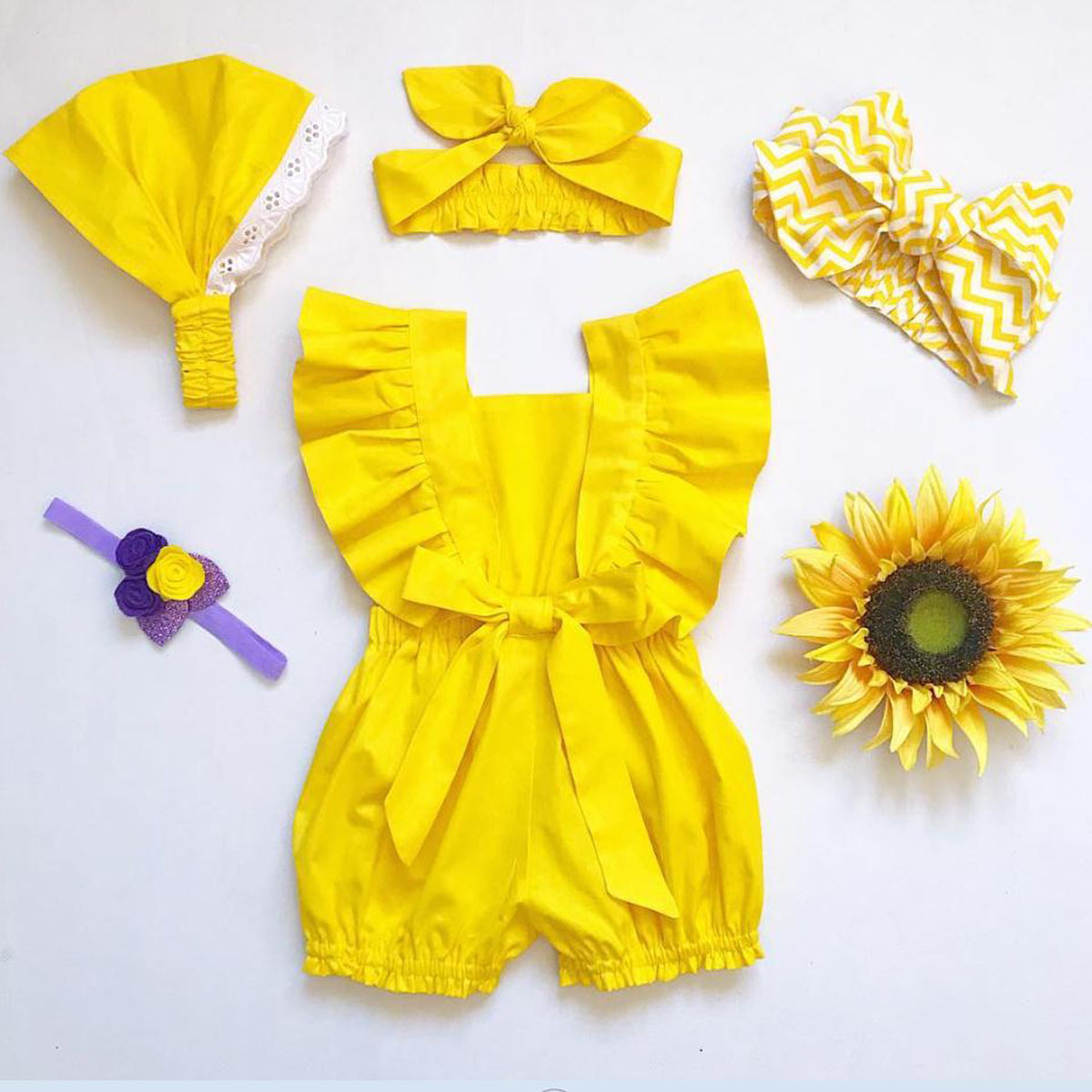 4b75afaf84ad6 HOT SALE] Newborn Baby Girl Clothes Fly Sleeve Ruffle Romper ...