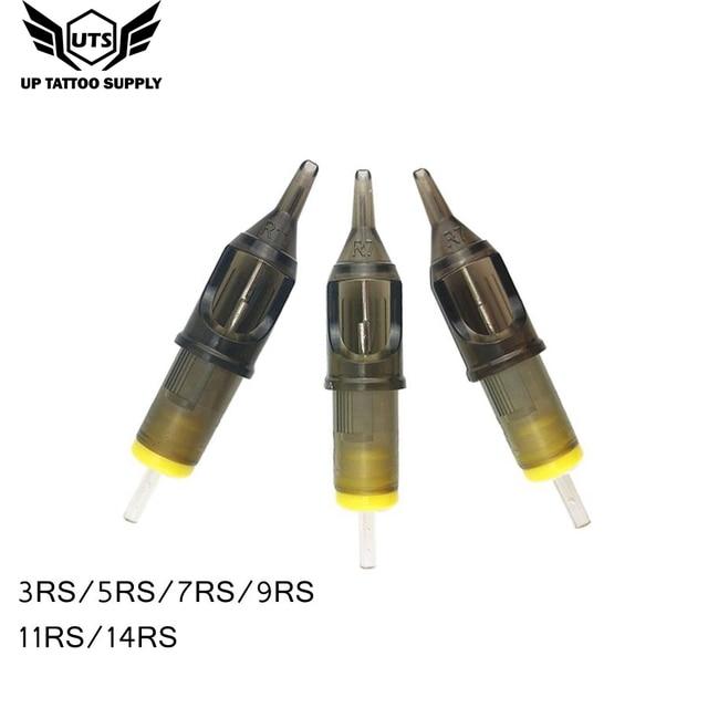 10 قطعة الوشم الإبر خرطوشة المتاح تجميل دائم إبرة ماكينة رسم الوشم التجميلي بندقية لوازم 3RS/5RS/7RS/9RS/11RS/14RS