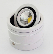 Free Shipping 7W/10W/15W Surface Mounted COB LED Downlight High Lumens 90~100 lm/W, Warm Cold White, CE & RoHS Certified