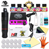 Rotary Pen Tattoo Kit 6 Color Immortal Tattoo Inks Set LCD Mini Power Equipment Supplies